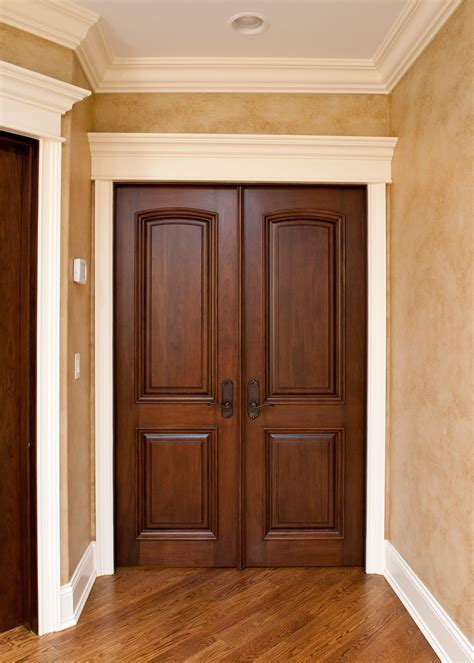 Classic Mahogany Solid Wood Front Entry Door   Double