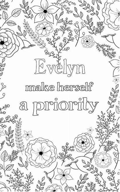Evelyn Adult Coloring Pages Personalised Word Nobel