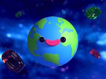Earth Planet Cartoon Candies Dribbble