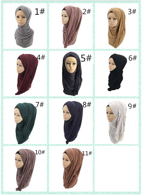 popular islamic muslim instant hijab stretch  pre stitched layers cross jersey hijab