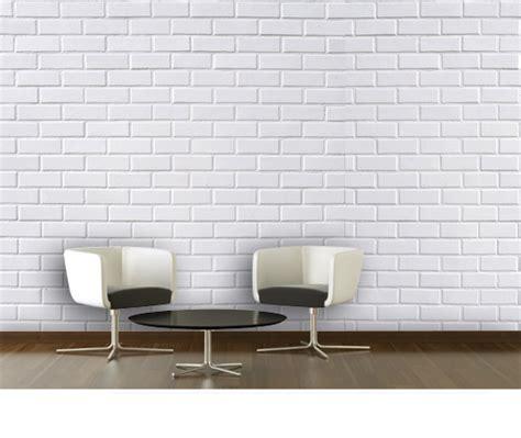 papier peint imitation brique blanche pas cher