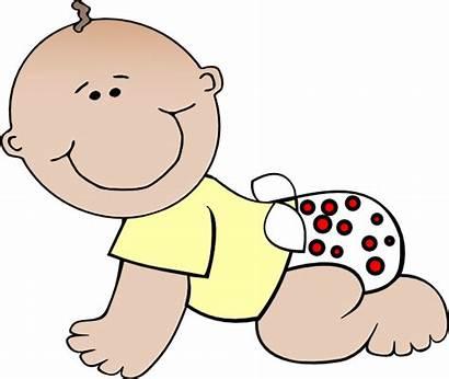 Clipart Clip Crawl Crawling Babies Diaper Vector