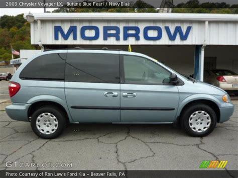 2003 Chrysler Voyager Lx by Butane Blue Pearl 2003 Chrysler Voyager Lx Navy Blue