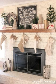 christmas fireplace mantels images  pinterest