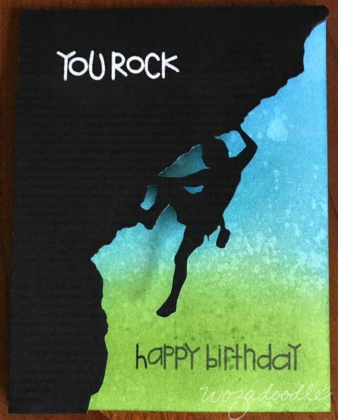 rock climbing birthday card  paper smooches sentiment