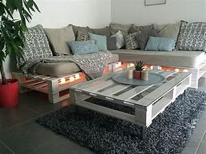 Fabriquer Un Canapé En Palette : faire une banquette avec des palettes ~ Voncanada.com Idées de Décoration