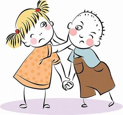 Fighting Clipart Siblings Boy Drama Clip Streiten