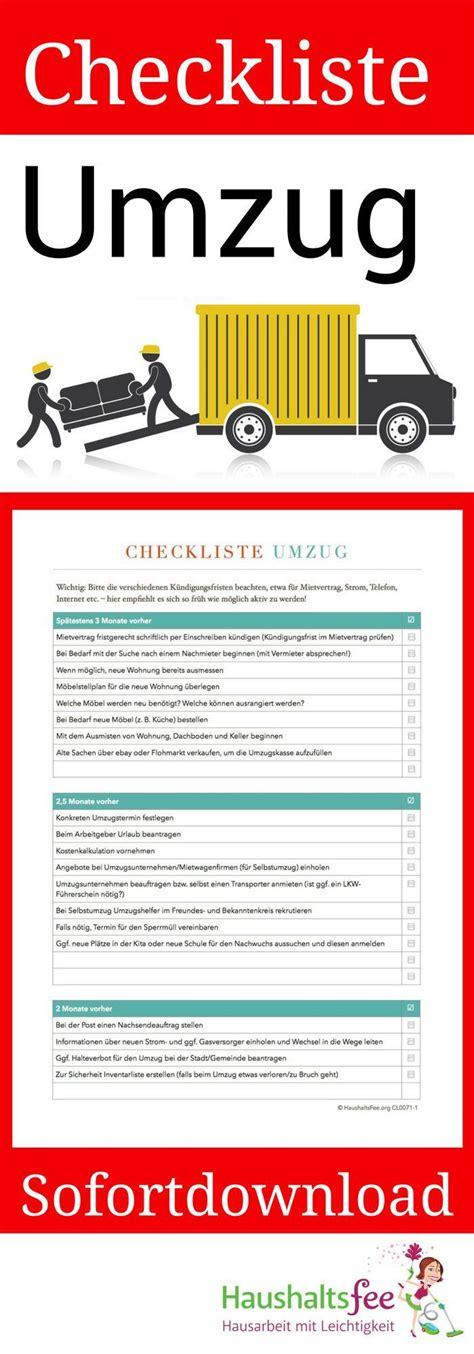 To Do Umzug by Checklisten Jetzt Im Shop Entdecken Und Downloaden In 2019