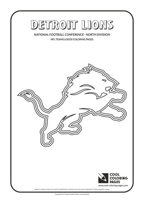 cool coloring pages detroit lions nfl american football