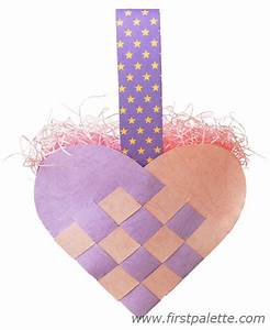 woven heart basket craft kids39 crafts firstpalettecom With woven heart basket template