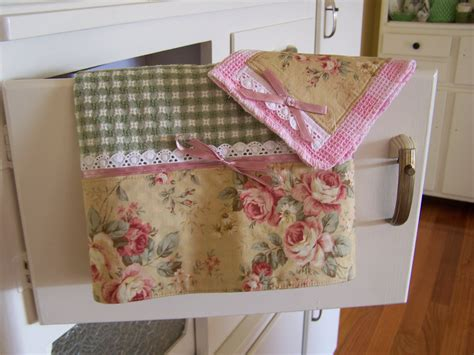 decorative kitchen towel sets shabby chic roses decorative kitchen towel set bows and