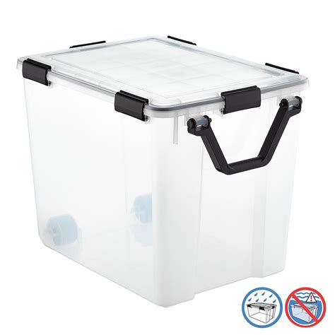 weathertight storage tote 103 qt weathertight tote with wheels the container 3371