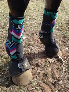 Teal chevron sports medicine boots with black bell boots