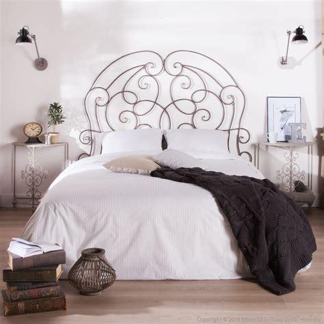 tete de lit fer forge blanc t 234 te de lit en fer forg 233 patin 233 gris l160xh143cm chinon