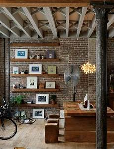 Deco Mur Interieur Moderne : la poutre en bois dans 50 photos magnifiques ~ Teatrodelosmanantiales.com Idées de Décoration