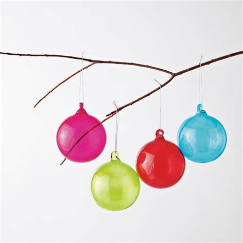 colored glass sphere ornaments modern christmas