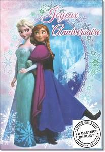 Joyeux Anniversaire Reine Des Neiges : carte anniversaire disney la reine des neiges livraison ~ Melissatoandfro.com Idées de Décoration