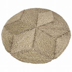tapis rond en jonc nta1764 aubry gaspard With tapis rond jonc