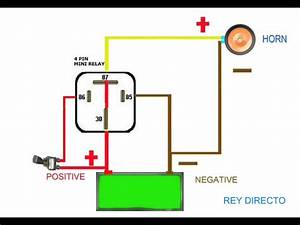 Horn Relay Simple Wiring Youtube And Bosch Relay Diagram