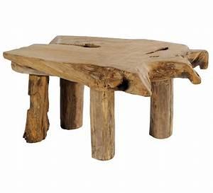 Table Basse Bois Brut : table basse teck massif brut farmer 1680 ~ Melissatoandfro.com Idées de Décoration