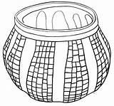 Pottery Coloring Mexican Template sketch template
