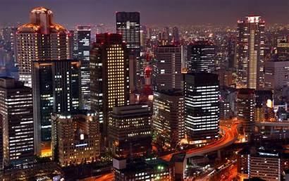 Osaka Japan Tokyo Night Umeda Wallpapers Tour