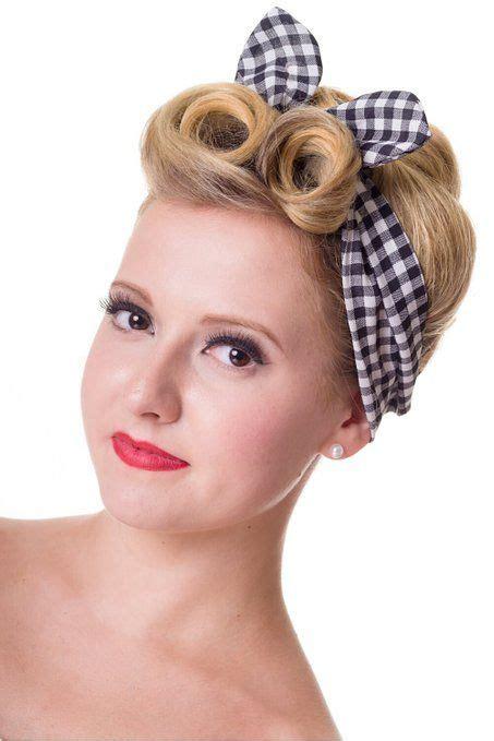 1950s Headband Hairstyle by 50s Hair Bandanna Headband Scarf Flowers 1950s Style