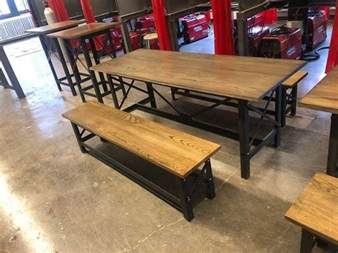 tables  benches designed  watts constructed