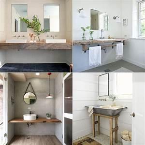Plan Vasque Bois : meuble salle de bain r cup 70 id es pour une d co qui respire l authenticit obsigen ~ Teatrodelosmanantiales.com Idées de Décoration