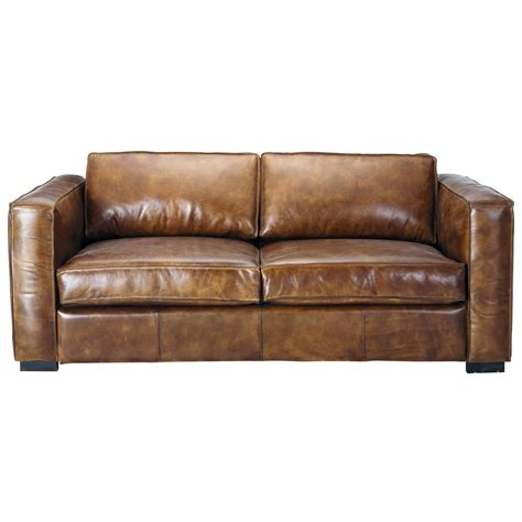 brown leather sofa bed 3 seater distressed leather sofa bed in brown berlin