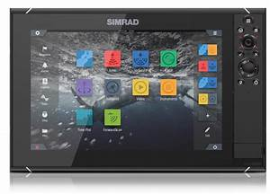 Simrad Nssevo3 9-inch Display With Gps  Sounder  U0026 Wi-fi  Includes World Basemap