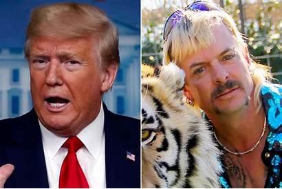 Trump Joe Exotic Tiger King Pardon Gay