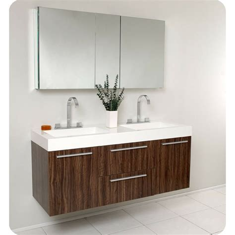 Two Vanities In Bathroom - fresca opulento walnut modern sink bathroom vanity