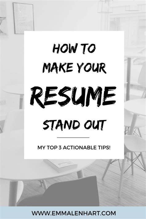 What Makes You Stand Out From Other Applicants by How To Make A Resume Stand Out From Others And Get