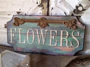 Shabby Chic Shops : paris flower shop wooden sign shabby cottage chic wall art ~ Sanjose-hotels-ca.com Haus und Dekorationen