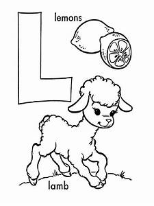 Letter L Coloring Pages Fun Color Page Grig3org