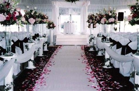 Pink Black White Wedding Ceremony