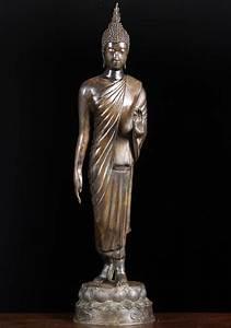 "SOLD Thai Walking Buddha Statue 26"" (#55t13b): Hindu Gods ..."