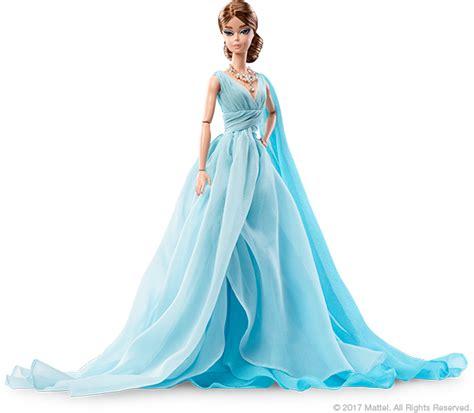 dyx74 barbie fashion model collection blue chiffon ball