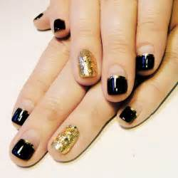 Black and gold nail designs for short nails simple art ideas