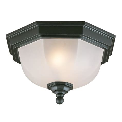 shop acclaim lighting 11 5 in w matte black outdoor flush