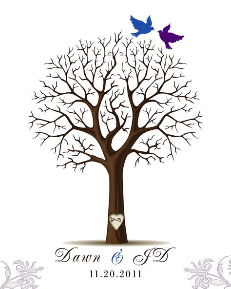 thumbprint tree guest book weddingbee