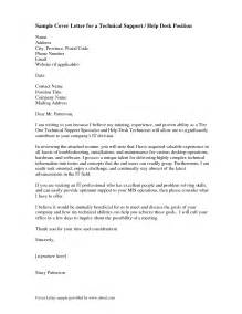 help desk cover letter exles for resume how to write a letter of support best business template
