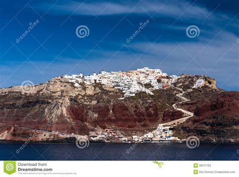 Santorini Oia City And The Aegean Sea Greece Royalty