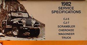 1982 Jeep Repair Shop Manual Original