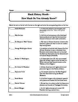 All Worksheets » Black History Month Worksheets  Printable Worksheets Guide For Children And