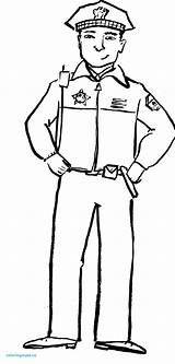 Coloring Police Officer Pages Drawing Community Helpers Policeman Clipart Hat Hats Security Guard Helper Preschool Printing Printable Firefighter Sketch Drawings sketch template