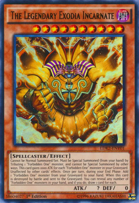 exodia yugioh incarnate legendary yu cards gi oh card deck decks rare ldk2 monster wikia monsters ultra ur 1st cartas