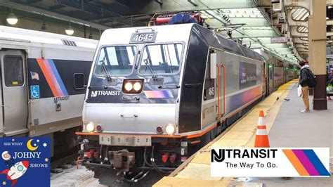 jersey transit train ride  ny penn station