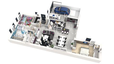 plan de chambre 3d maison solina